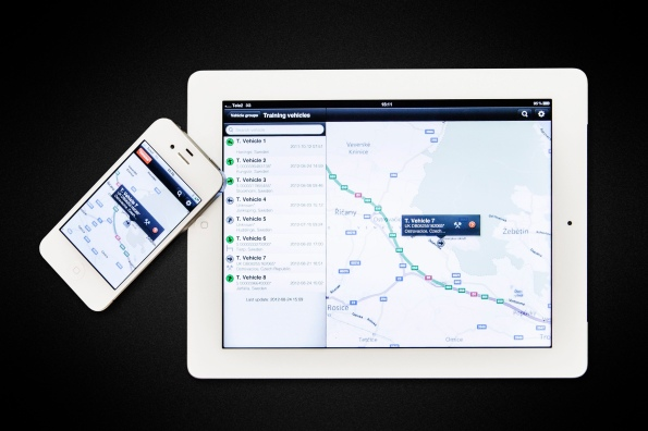 Scania Fleet Management App. Office interface.